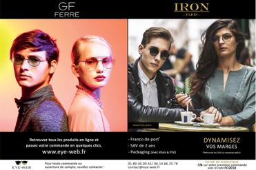 Silmo 2018 : EYEWEB présentera ses nouvelles collections IRON Paris & GF FERRE