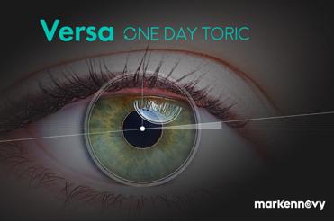 VERSA ONE DAY TORIC: La première lentille de contact torique journalière sur mesure au monde.