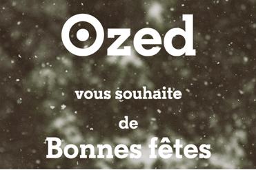 Ozed Company vous souhaite de bonnes fêtes !