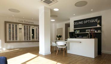 Agencement du magasin Céline Optique