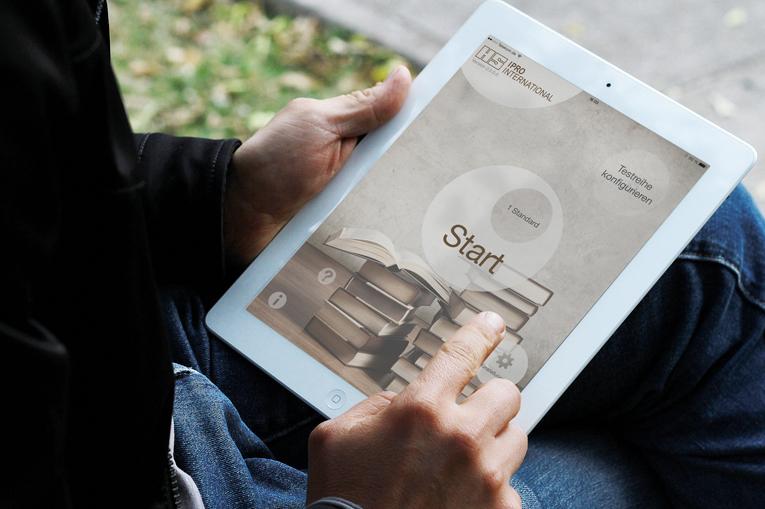 Tests professionnels de la vision de près pour l'Apple iPad