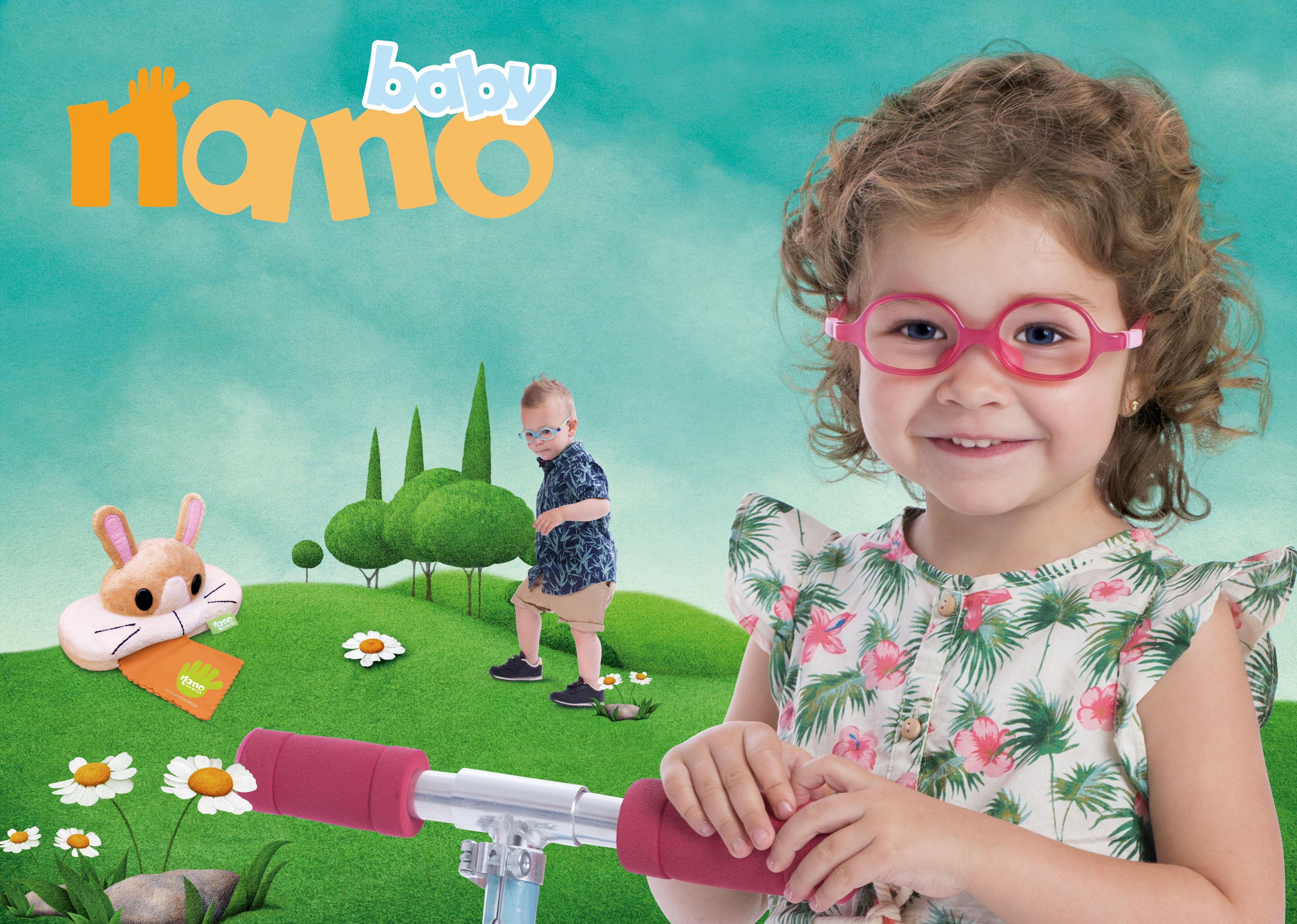 NANO BABY - LUNETTES INCASSABLES POUR LES ENFANTS 2 EN 1