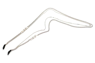 Twin Chaine Perles Nacrées